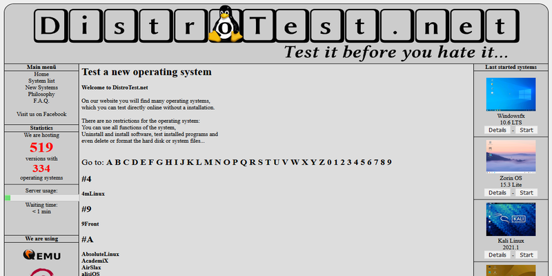 DistroTest